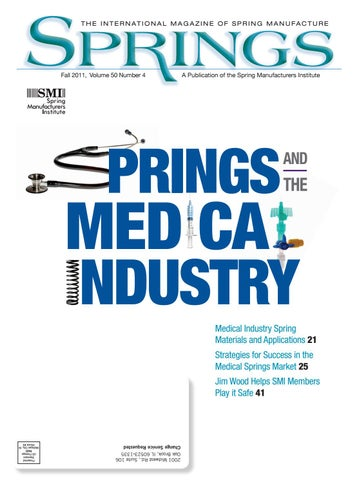 Springs fall 2011 vol 50 no4 by spring manufacturers institute issuu page 1 fandeluxe Choice Image