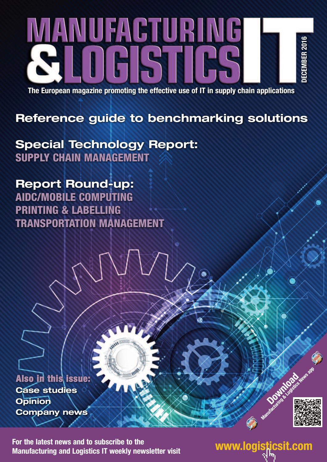 Manufacturing & Logistics IT - December 2016 by First Sight