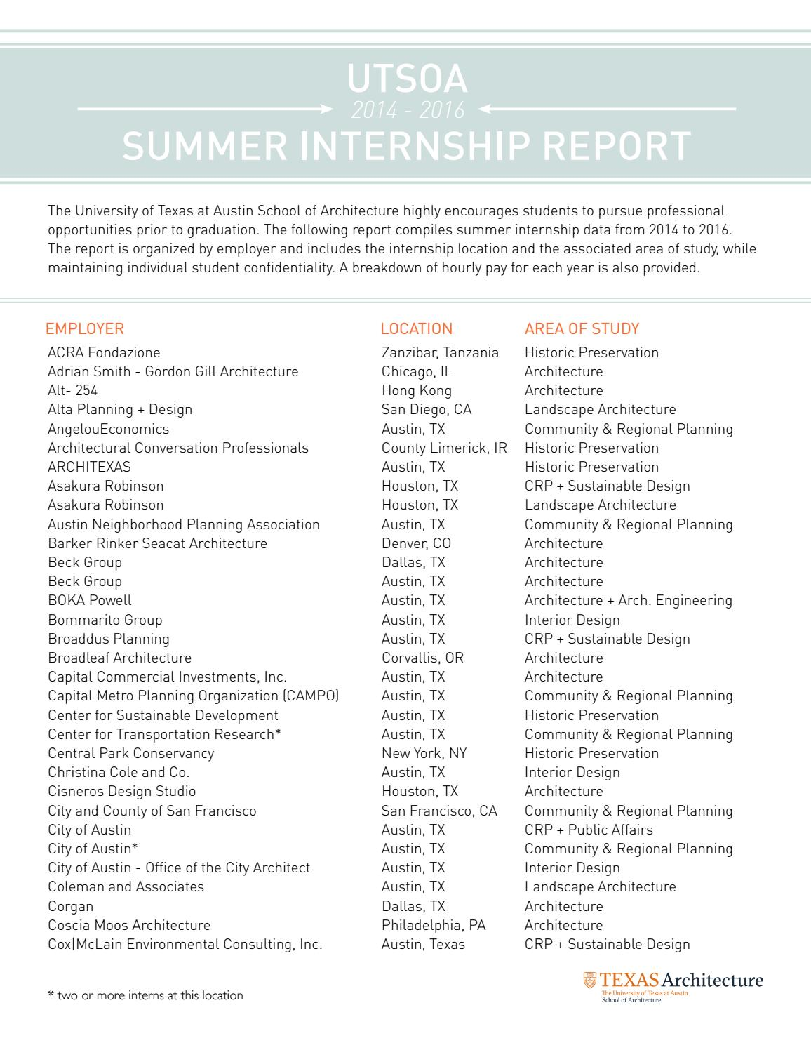 Summer Internship Report 2014 2016 By Ut School Of Architecture Issuu