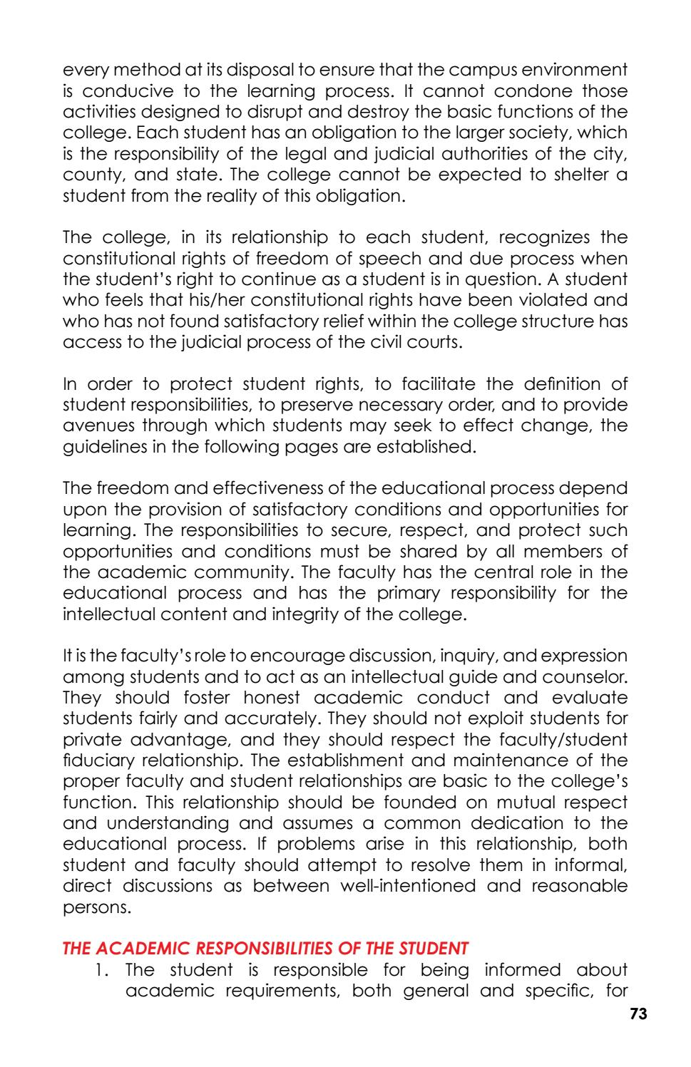 speech on responsibility of a student