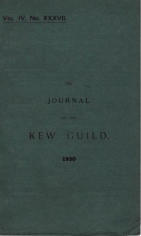 The Journal of the Kew Guild - Events of 1930 by Kew Guild