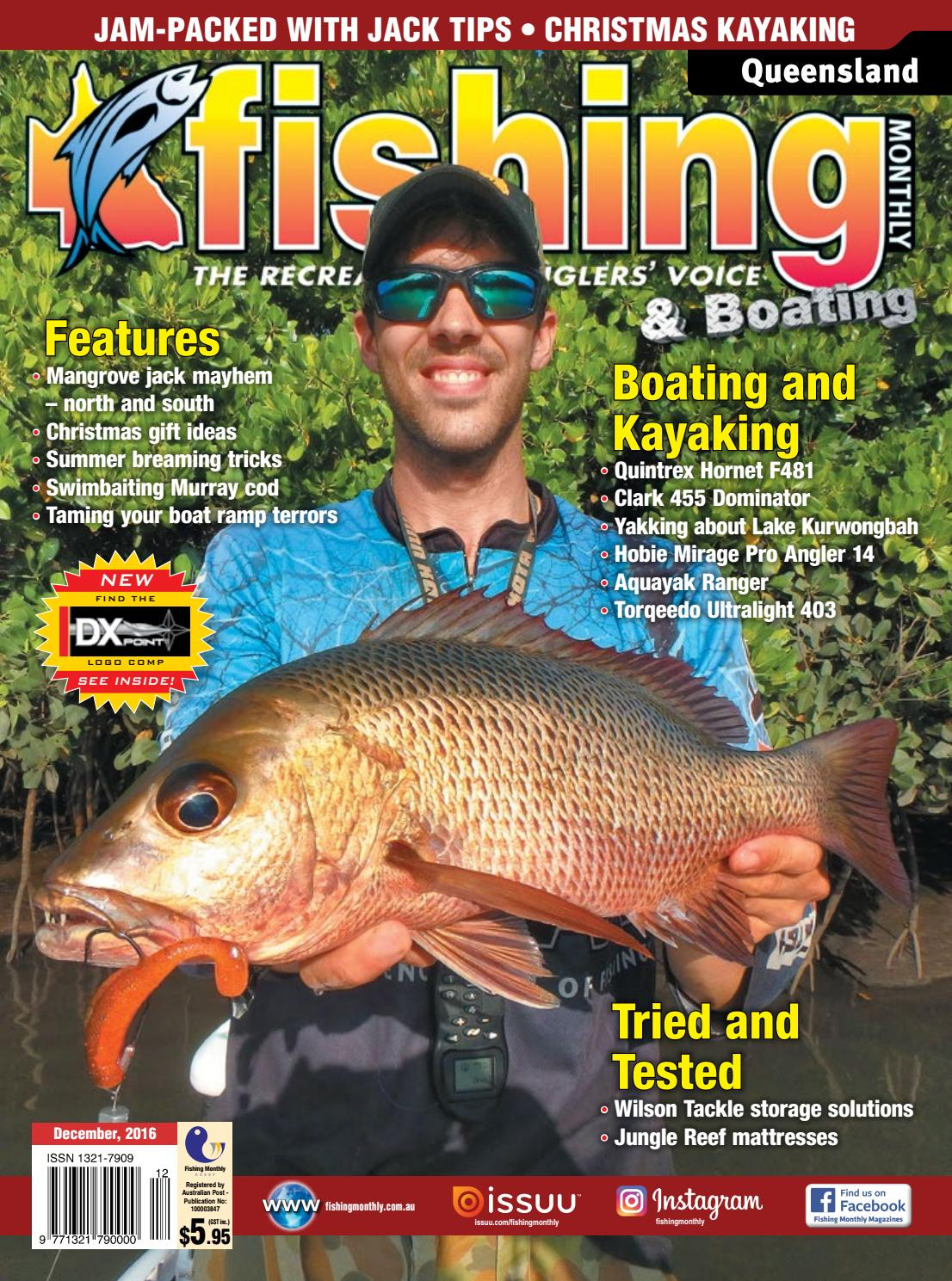 Queensland Fishing Monthly December 2016 By Issuu Lure Minnow 85 Cm 68gr Crank Bait Treble Hook Crankbait