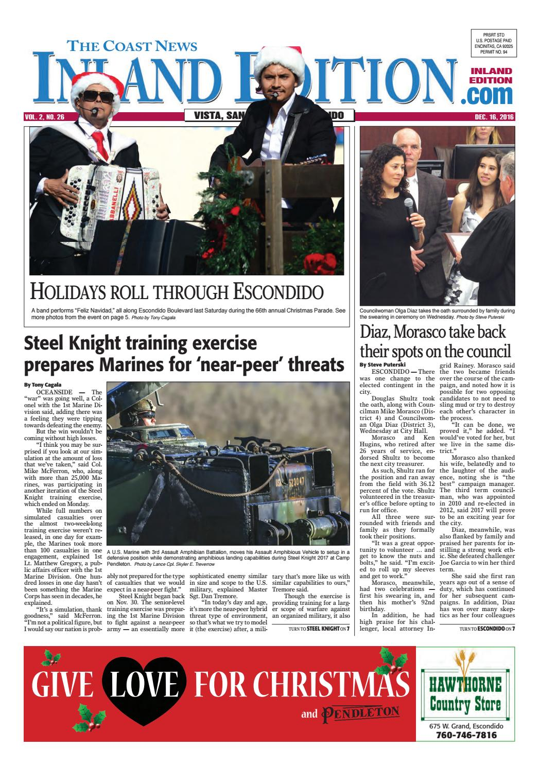 Inland edition, december 16, 2016 by Coast News Group - issuu