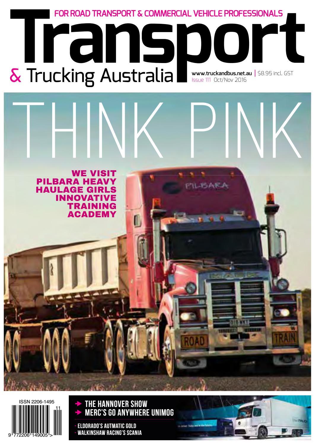 Transport & Trucking issue 111 Oct-Nov by Transport Publishing