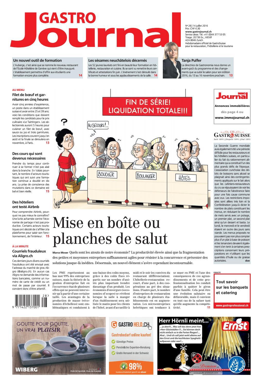 GastroJournal 28/2016 by Gastrojournal - issuu
