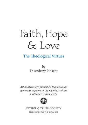 Theological virtues catholic