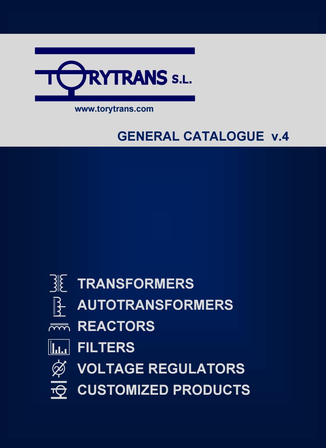 General Catalogue V4 En By Torytrans Sl Issuu 225 Kva Transformer Wiring Diagram