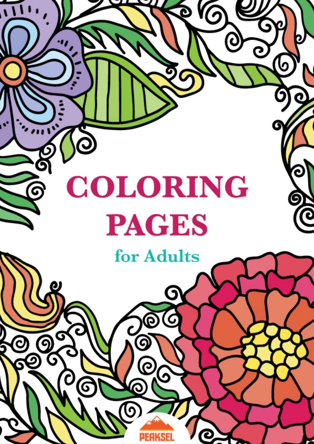 Coloring pages for adults free adult coloring book by Coloring books for young adults