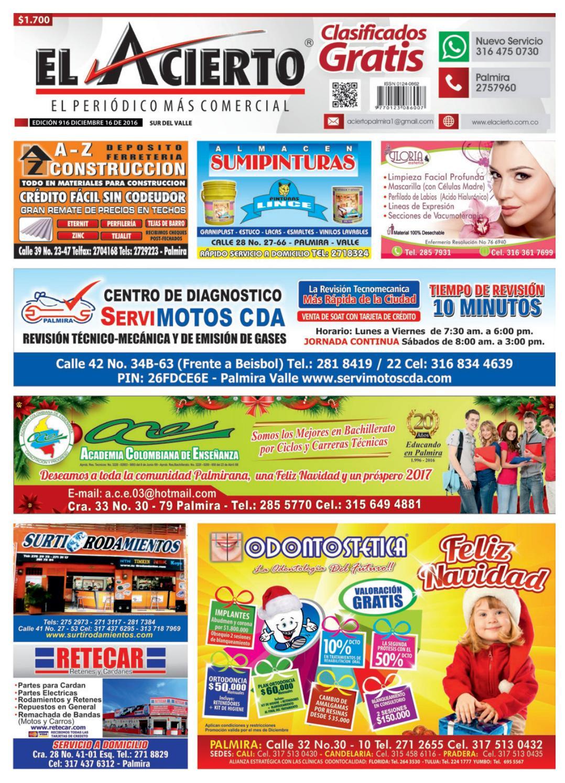 ff76537cd Palmira 916 16 diciembre 2016 by El Acierto - issuu