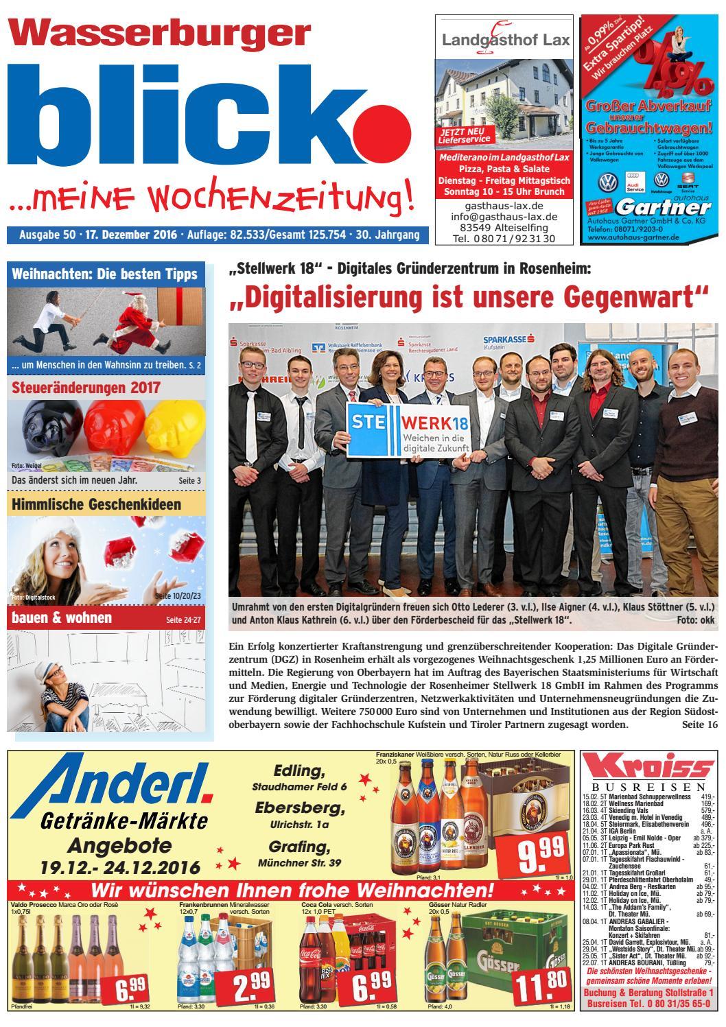 Wasserburger blick - Ausgabe 50 | 2016 by Blickpunkt Verlag - issuu