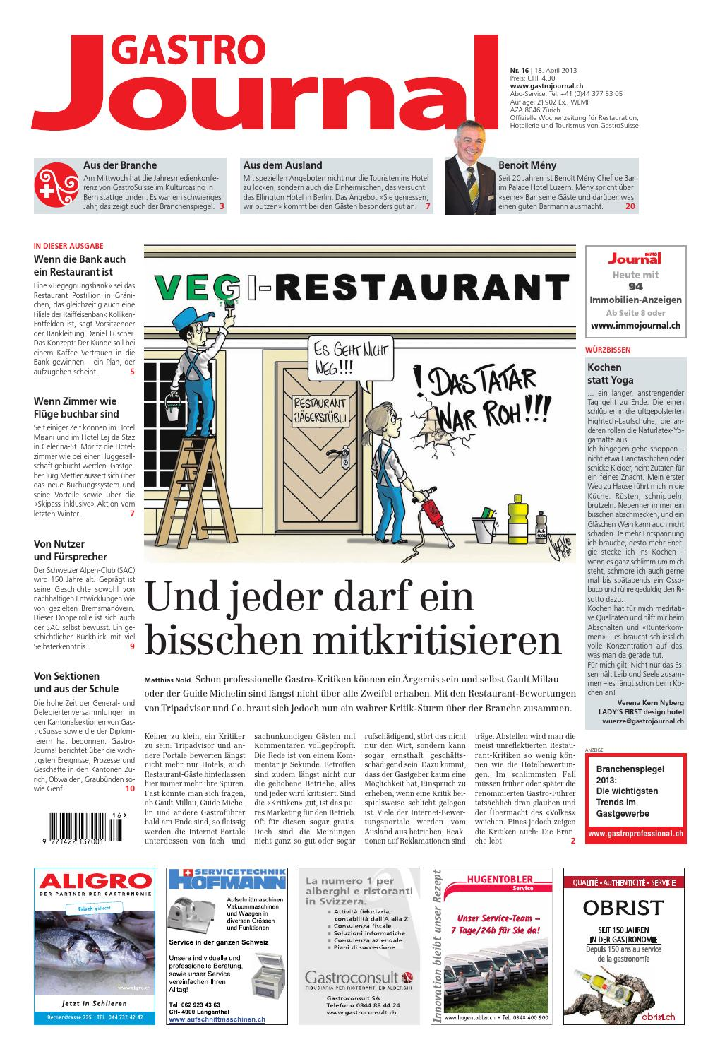 GastroJournal 16 2013 By Gastrojournal