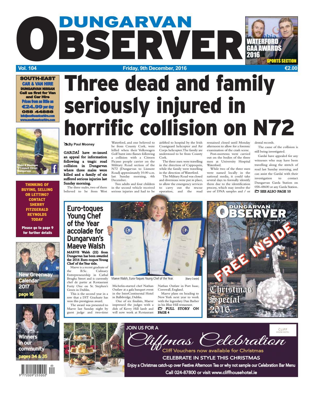 Dungarvan observer 9 12 2016 edition by Dungarvan Observer - issuu
