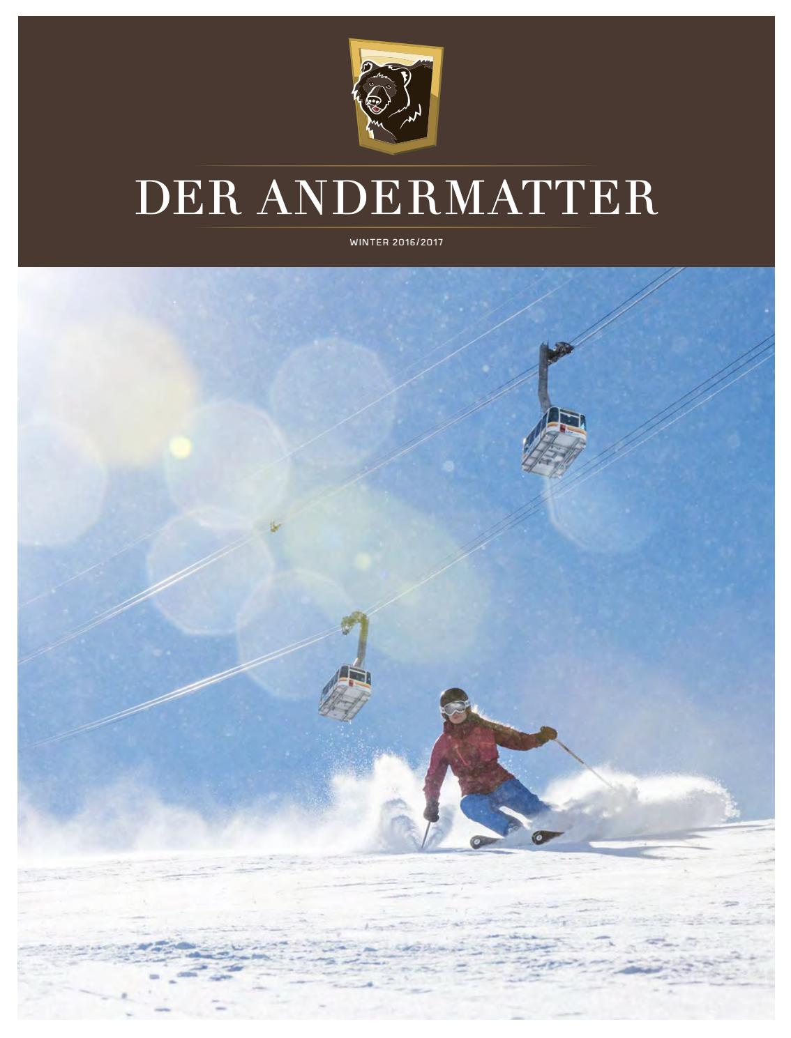 DER ANDERMATTER – Winter 2016/2017 by tinto AG - issuu