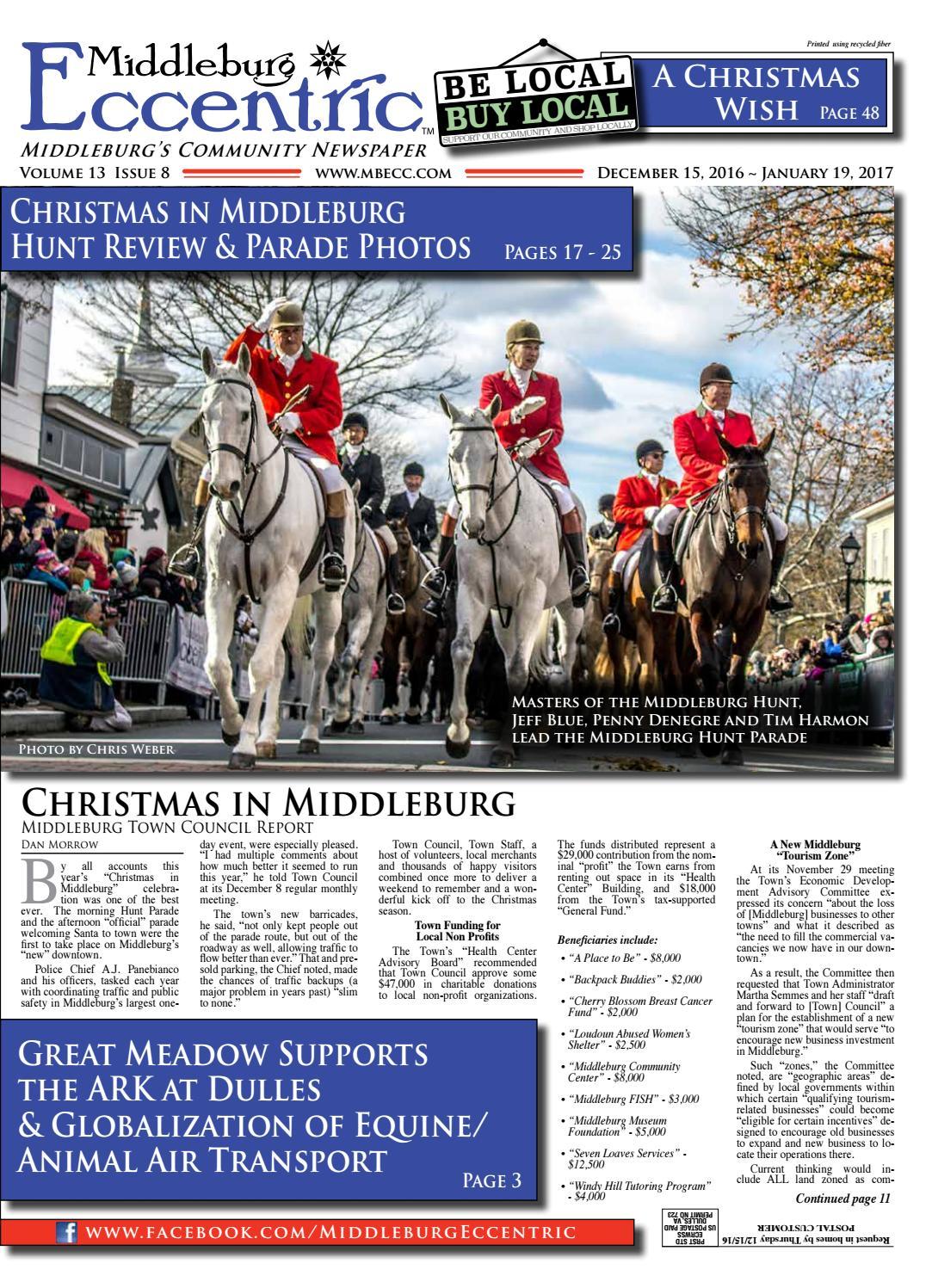 Middleburg Eccentric December 2016 by Middleburg Eccentric, LLC ...