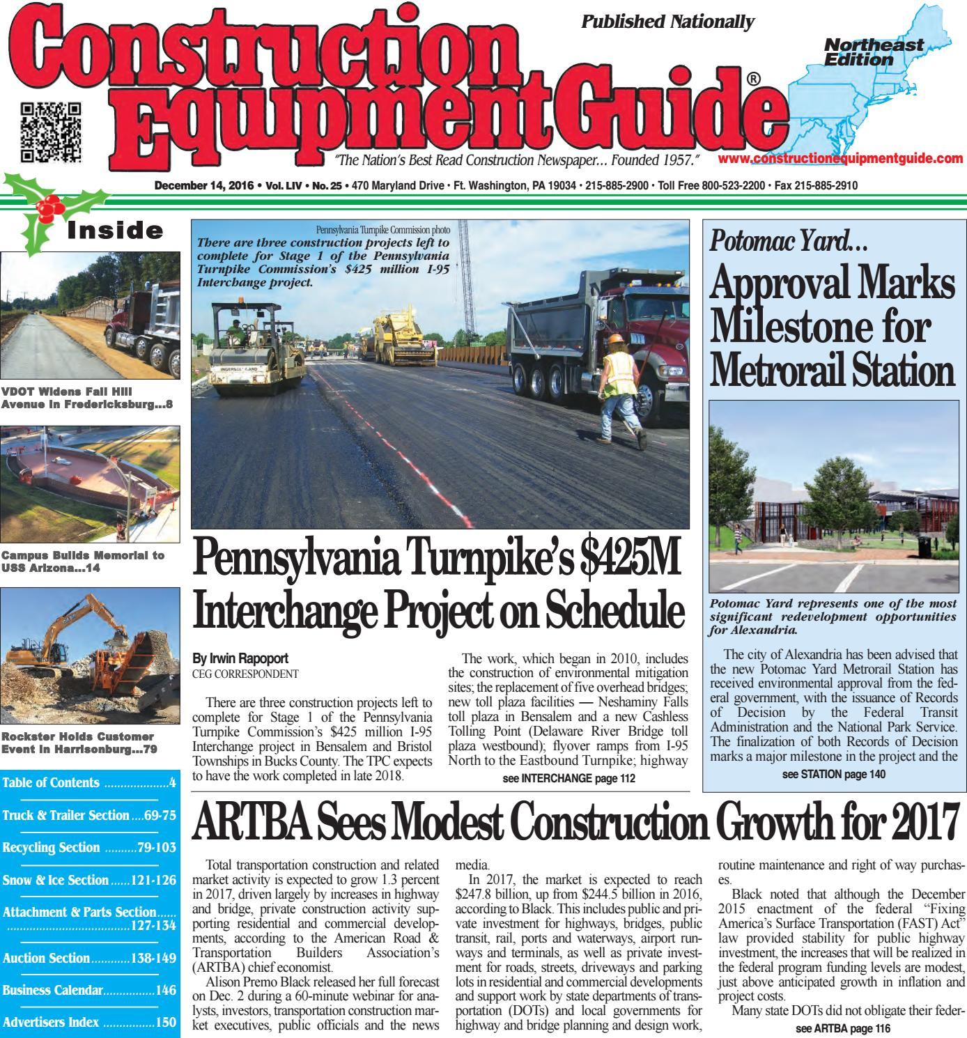 428c85bf504 Northeast 25 December 14, 2016 by Construction Equipment Guide - issuu