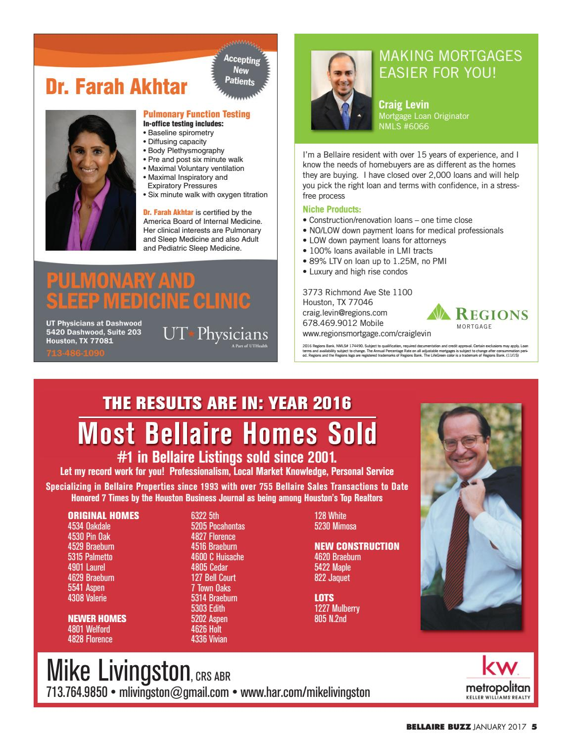 The Bellaire Buzz - January 2017