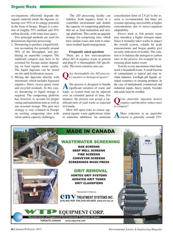 Environmental Science & Engineering Magazine January-February 2015