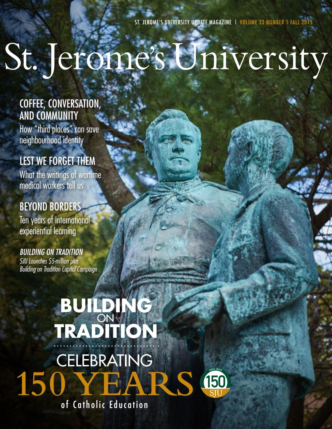 SJU Update 2015 by St. Jerome\'s University - issuu