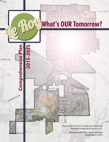 City Of Le Roy Il Comprehensive Plan 2016 By Msa Professional