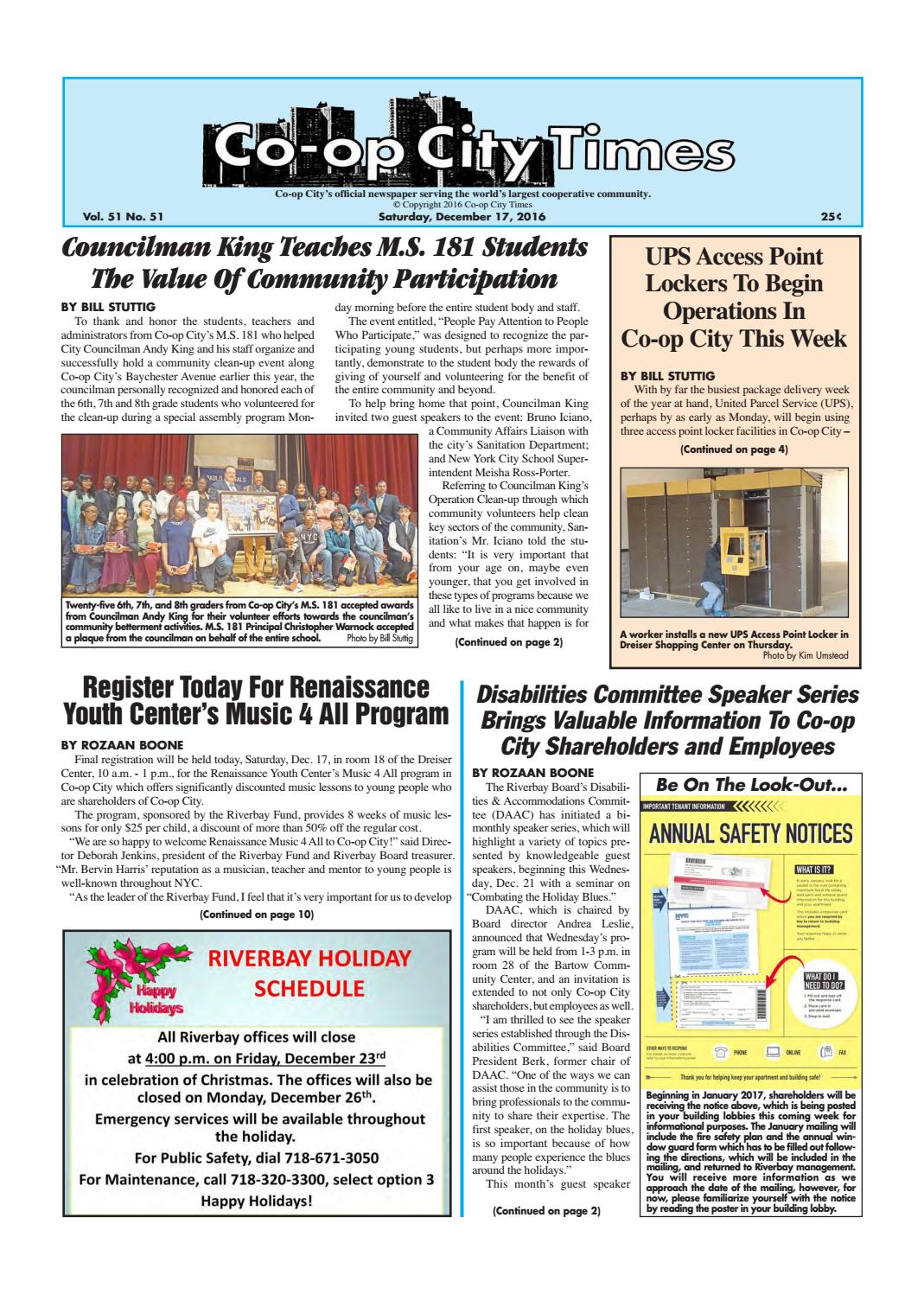 Co-op City Times 12/17/16 by Co-op City Times - issuu