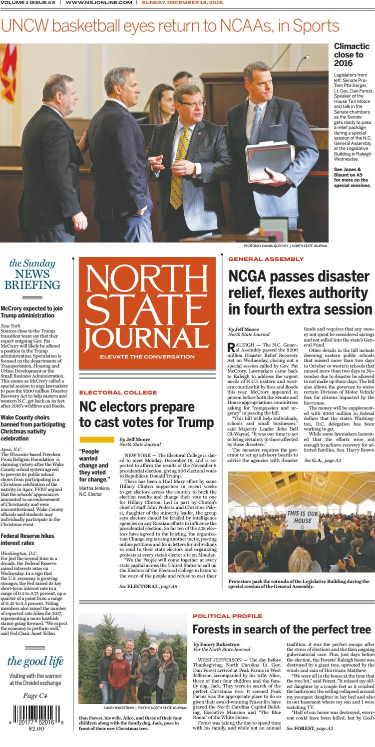 North State Journal — Vol  1 , Issue 43 by North State