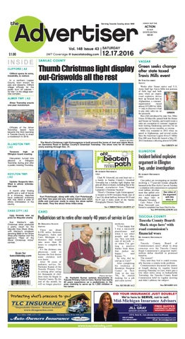 8c2805efde9 Tca 12 17 16 all pages by Tuscola County Advertiser - issuu
