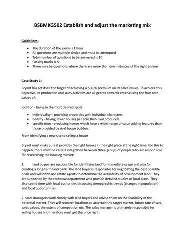 marketing plan assignment ideas
