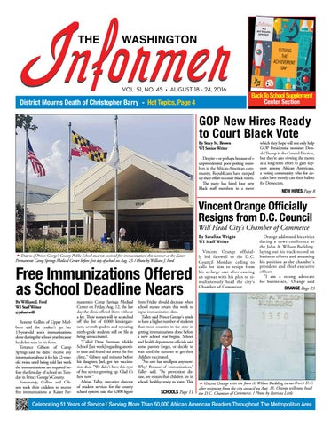 Informer Issue 08 18 2016 Final By The Washington Informer Issuu