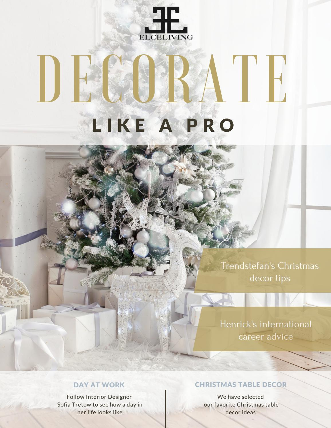 Decorate Like A Pro Dec2016 By Elceliving