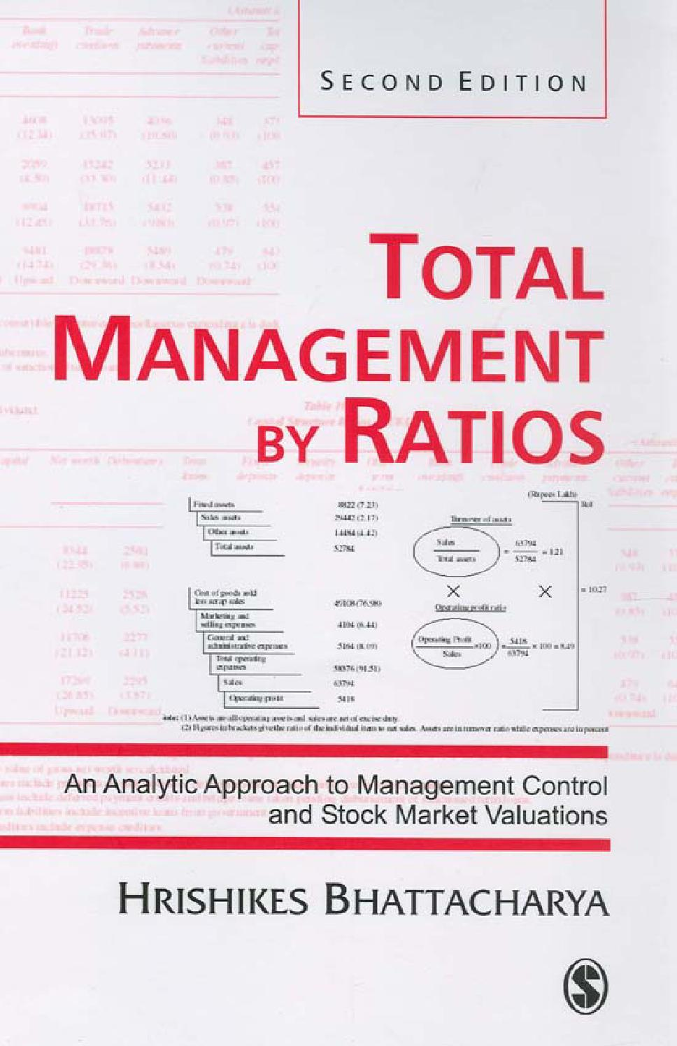 Total management by ratios an analytic approach to