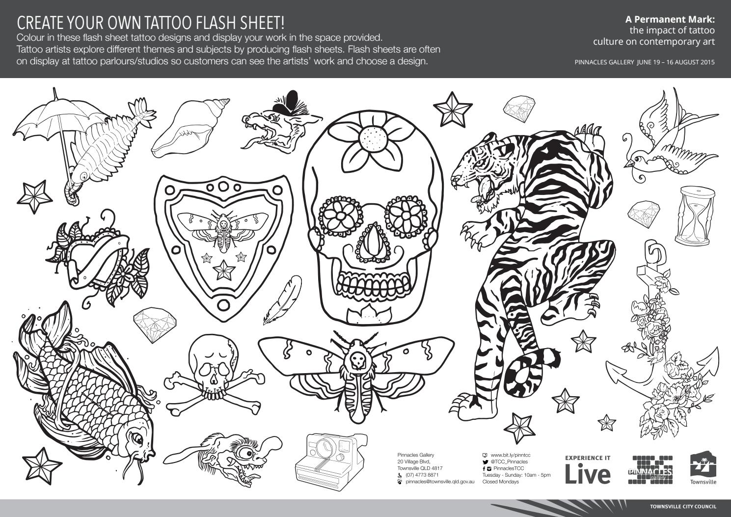 children 39 s activity tattoo flash sheet by shane fitzgerald issuu. Black Bedroom Furniture Sets. Home Design Ideas