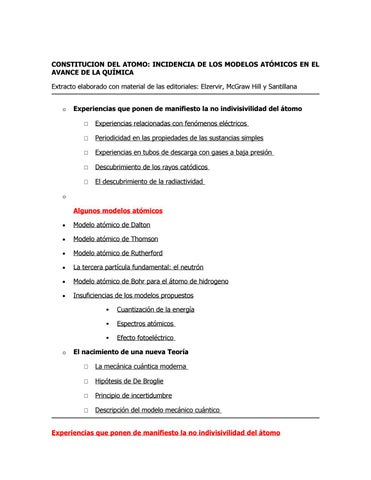 Modelos Atomicos Y Estructura Del Atomo Enrique Horacio