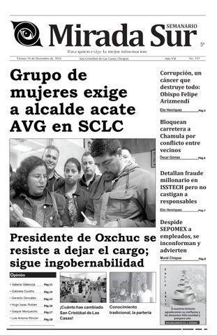 Grupo de mujeres exige a alcalde acate AVG en SCLC by Mirada Sur - issuu