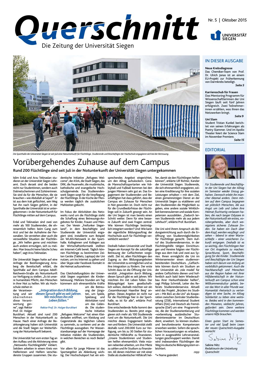 Querschnitt 05 / 2015 by Universität Siegen - issuu
