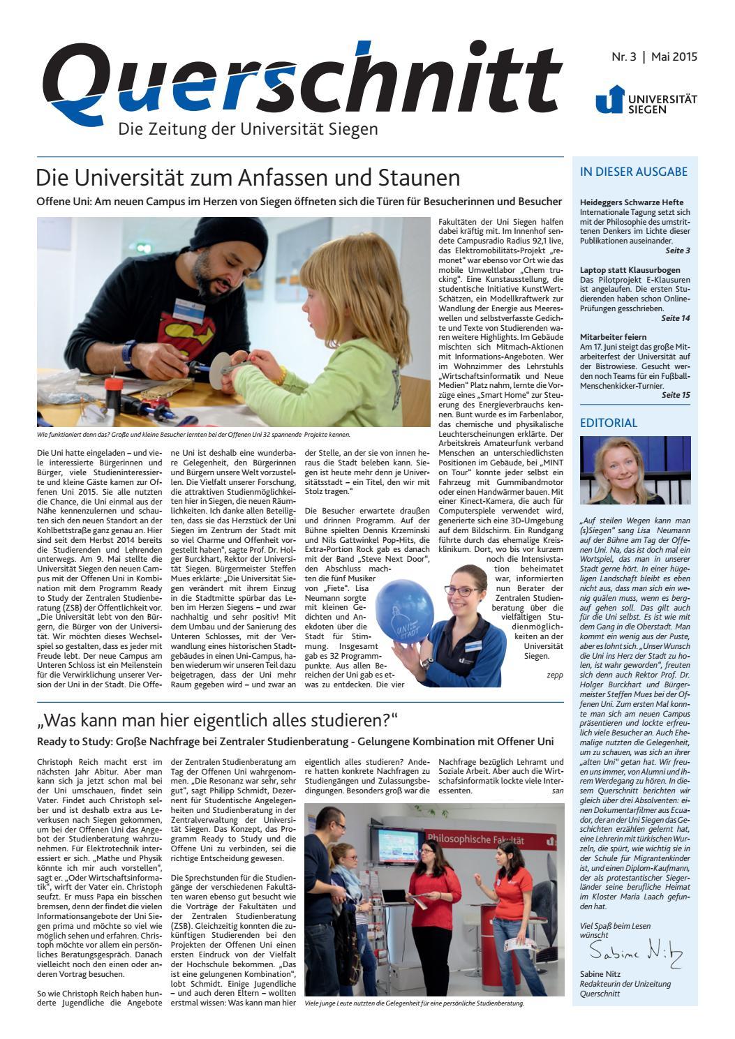 Querschnitt 3 2015 By Universitat Siegen Issuu