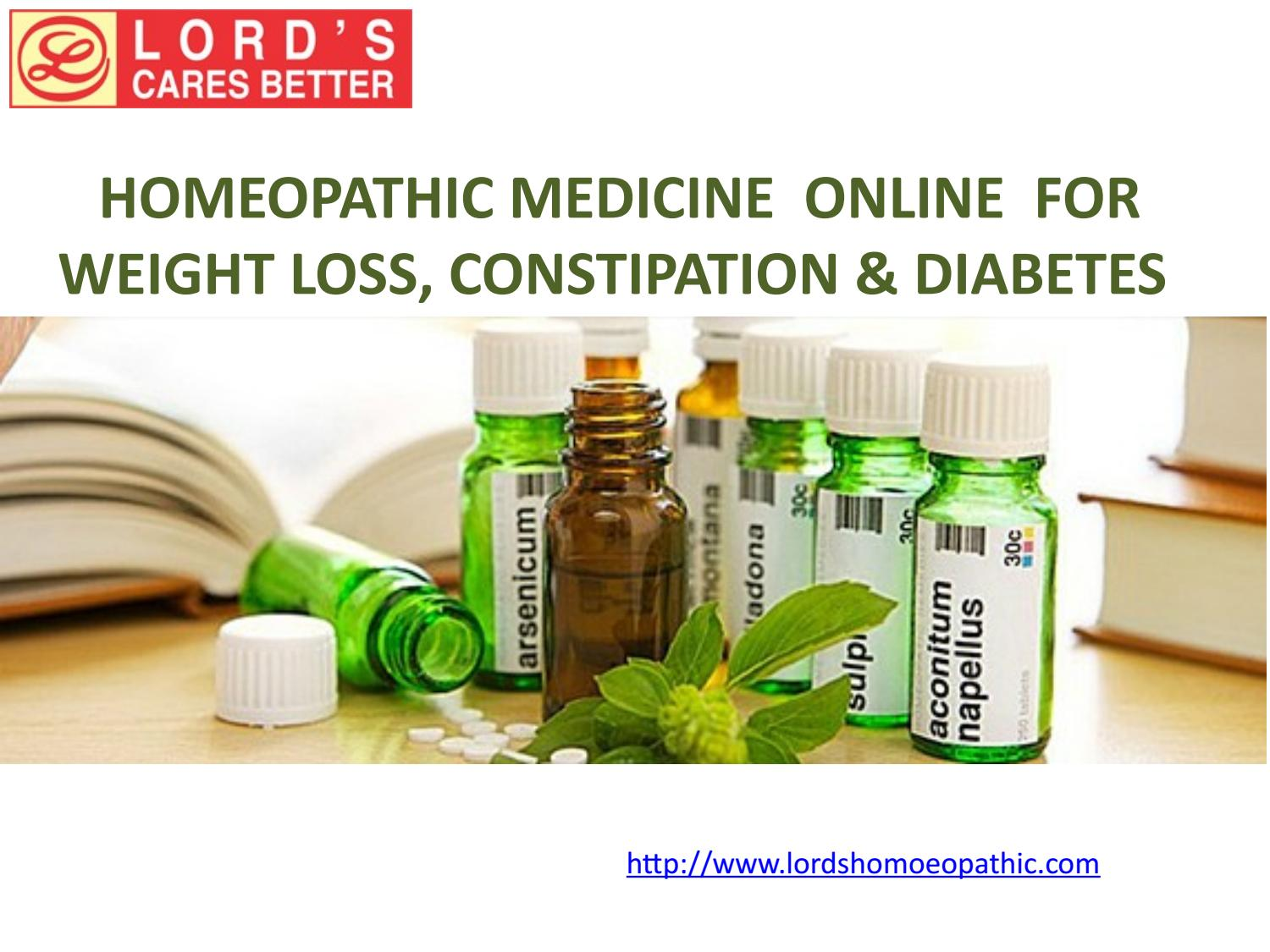 Homeopathic medicine online for weight loss, constipation & diabetes