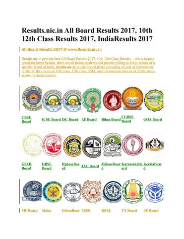 Board Results 2017, 10th 12th Class Results 2017, IndiaResults 2017