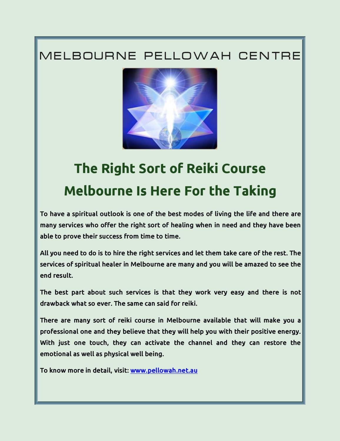 The Right Sort of Reiki Course Melbourne Is Here For the Taking by