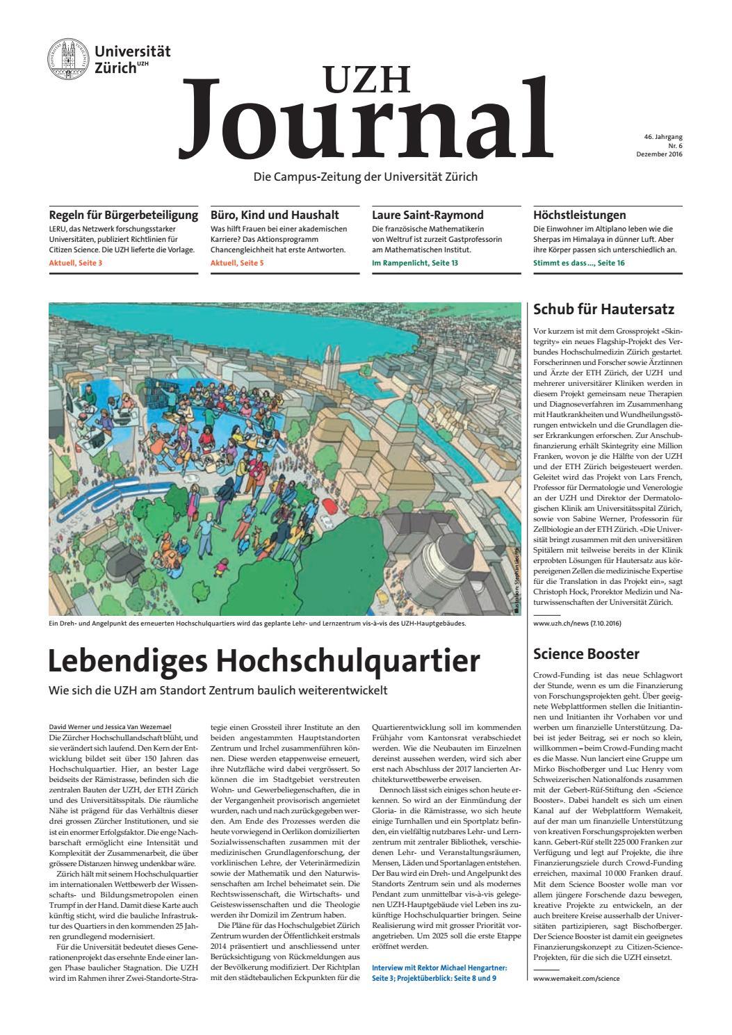 UZH Journal 6/16 by University of Zurich - issuu