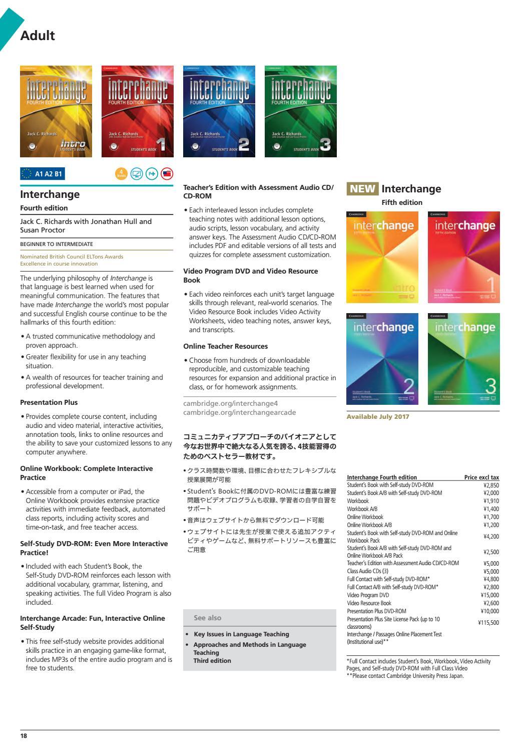 Workbooks interchange fourth edition online workbook : 2017 ELT Cambridge University Press catalogue - Japan by Cambridge ...