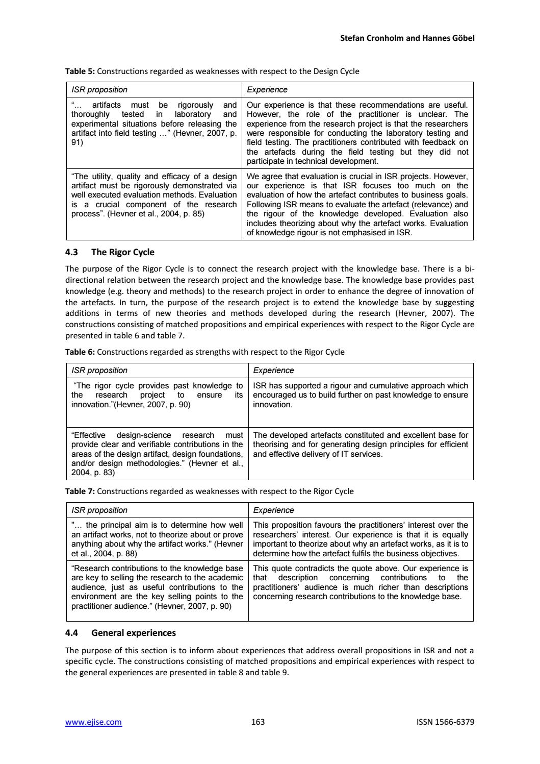 Evaluation Of The Information Systems Research Framework Empirical Evidence From A Design By Academic Conferences And Publishing International Issuu