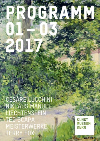 Charming Programm Januar   März 2017 By Kunstmuseum Bern   Issuu