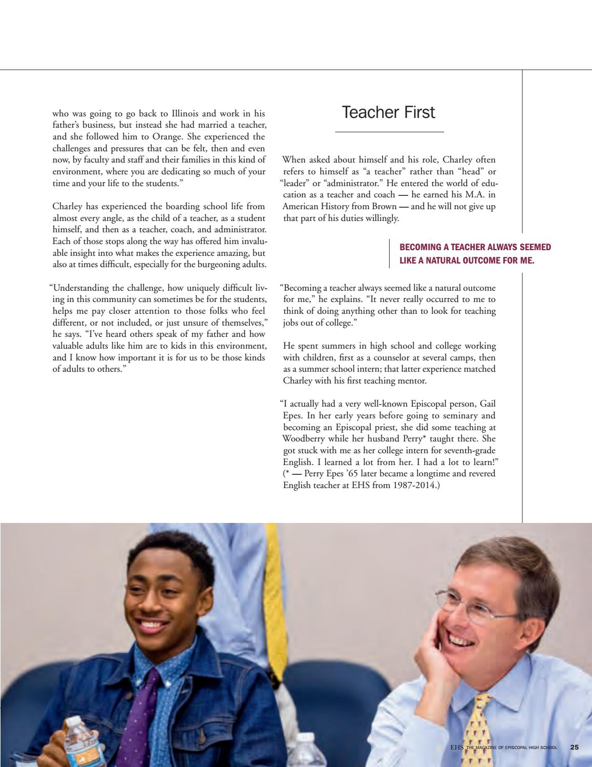 EHS: The Magazine of Episcopal High School (Fall 2016) by
