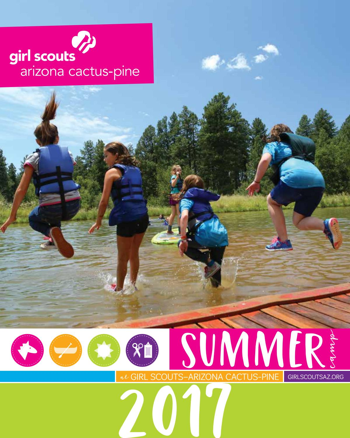 girl scouts summer camp brochure 2017 by girl scouts