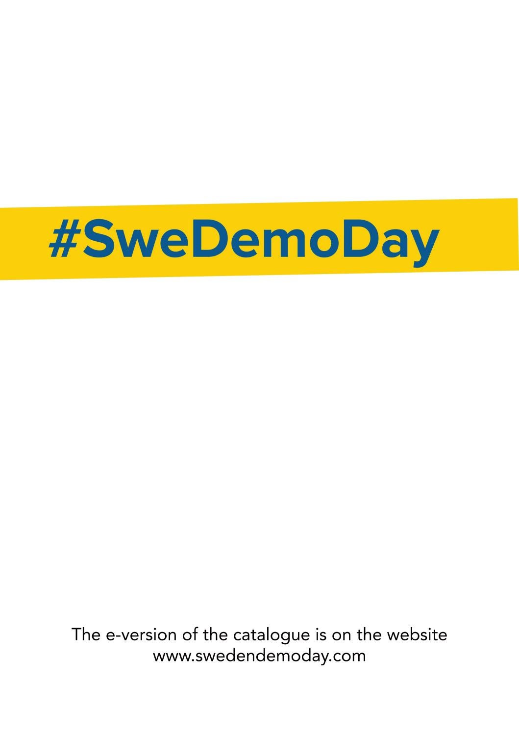 sweden demo day catalogue 2016 by