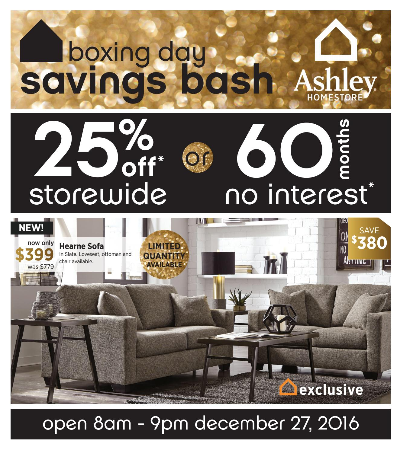 Peachy Ashley Homestore Boxing Day Savings Bash Ends 09 01 17 By Caraccident5 Cool Chair Designs And Ideas Caraccident5Info