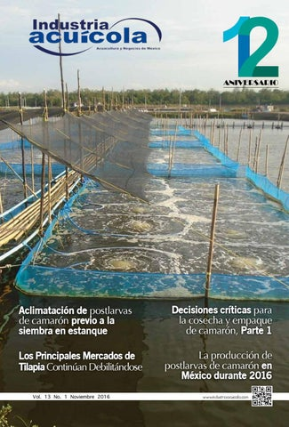Revista industria acuicola 13 1 by aqua negocios sa de cv for Construccion de estanques para tilapia