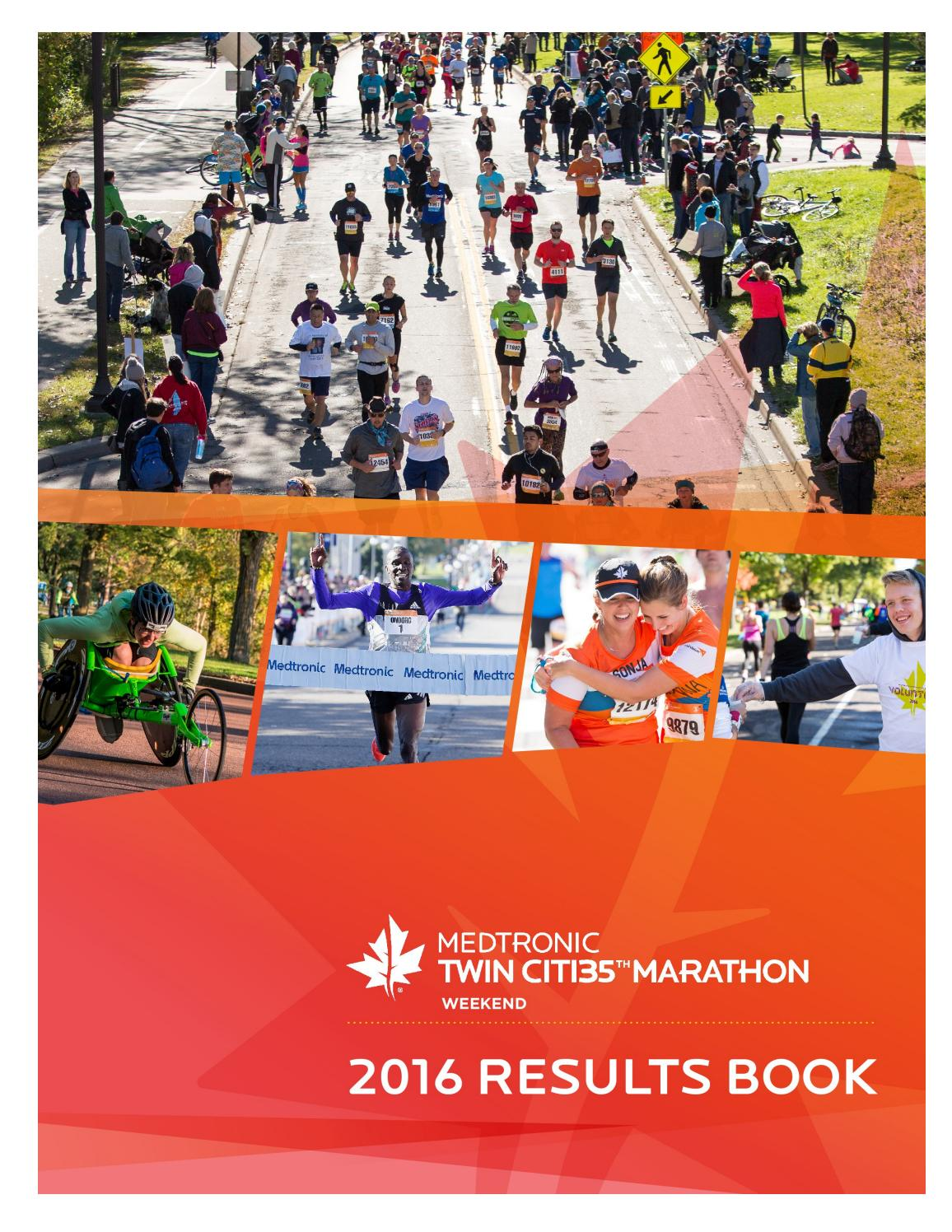 2016 medtronic twin cities marathon weekend results book by twin 2016 medtronic twin cities marathon weekend results book by twin cities in motion issuu