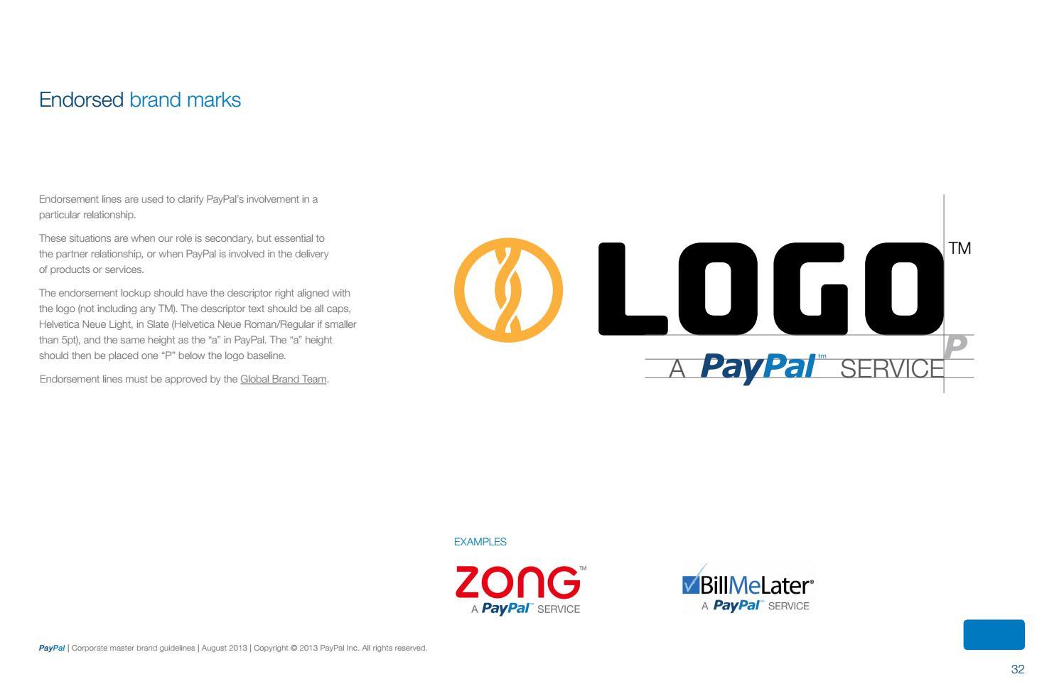 PayPal Brand Guidelines By Lukasz Kulakowski   Issuu