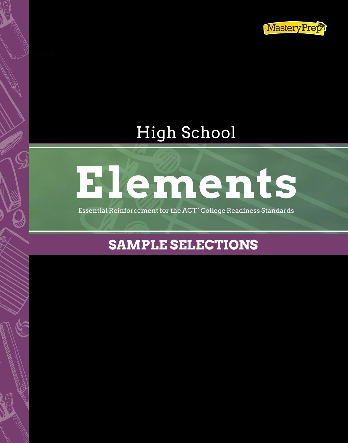 Sample | ACT Elements High School, 2016-17 by MasteryPrep ...
